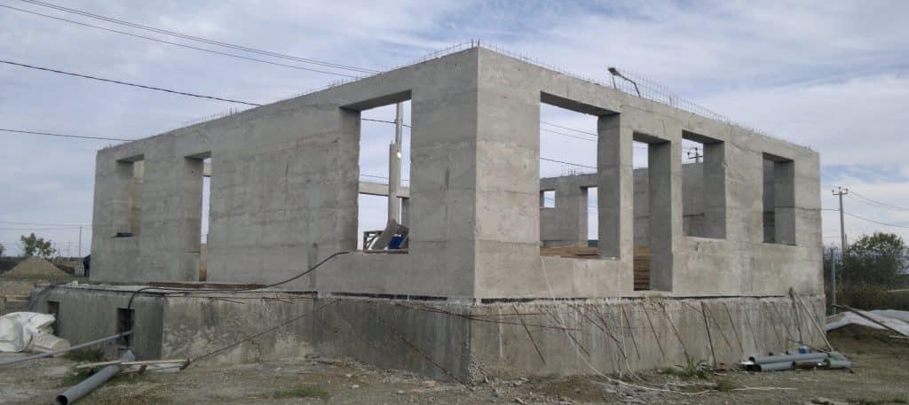 Заливаем стены бетоном плотность раствора цементного м75