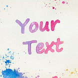Effect Watercolour Text