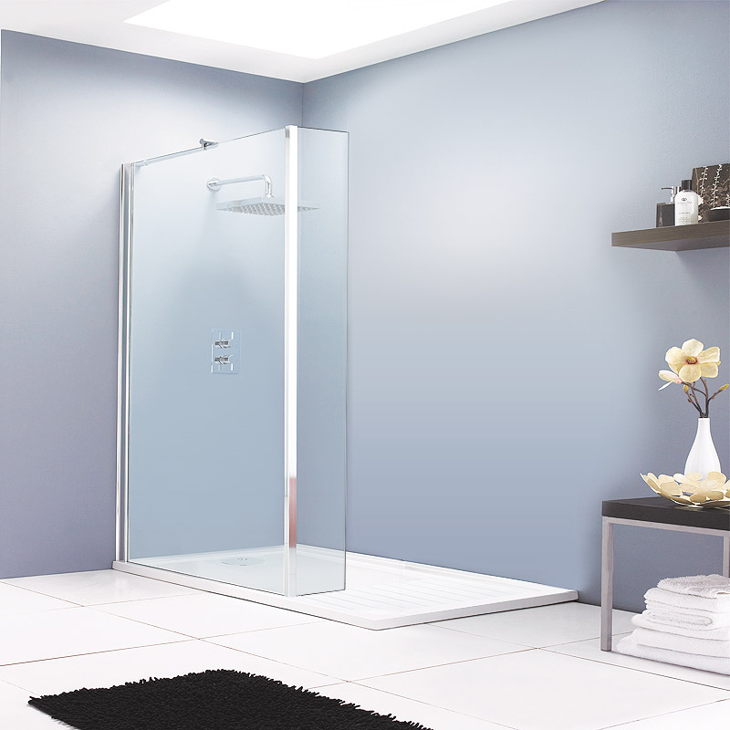The Aurora Walk In Shower Enclosure with return panel