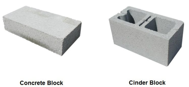 Difference Between a Concrete Block and a Cinder Block