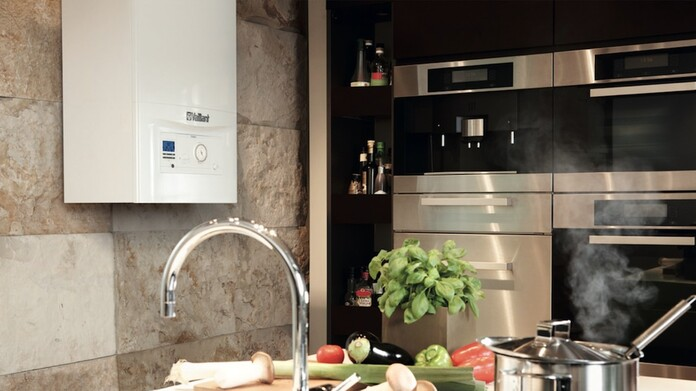 ecoTEC pro regular boiler in the kitchen