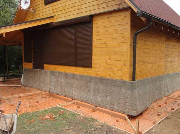 Виды отмосток вокруг дома без бетона бетон купить гостагаевская