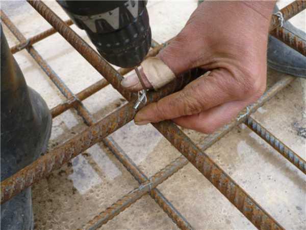 как правильно вязать арматуру для плиты