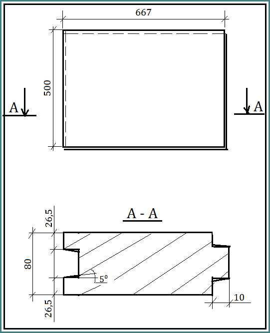 размер пазогребневой плиты