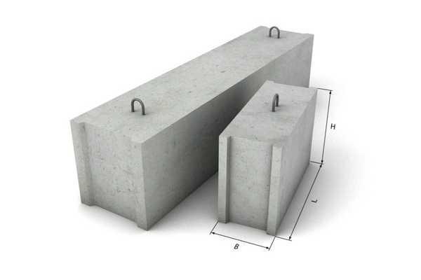 Сколько весит фундаментный блок